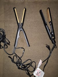 two black corded hair flat irons Portsmouth, 23704