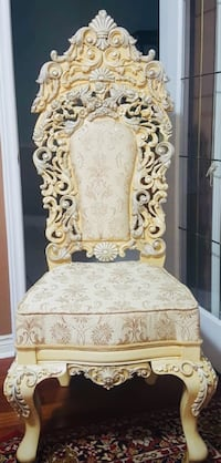 For Rent King and Queen Grand Chairs for Wedding Decors & Events Toronto, M5M 1Y4