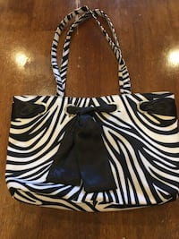 Black and white zebra print tote bag Silver Spring, 20910