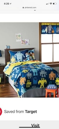 Full size robot bedding from target $40 includes quilt, sheet set and pillow case  Whittier, 90603