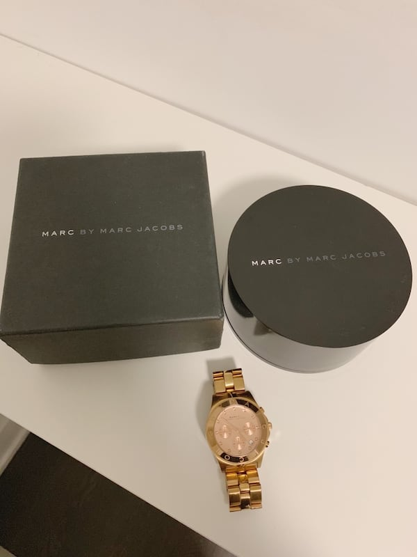 MARC by MARC JACOBS Large Blade Chrono Watch Rose Gold c63a35e3-4dc6-4fb2-9e27-f06a0ac7a276