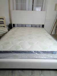 New White Queen Bed Frame Headboard Queen Size Bed