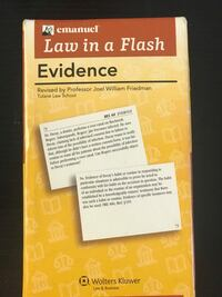 Evidence Legal Flash Cards