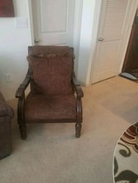 brown wooden framed brown padded armchair Woodbridge, 22191