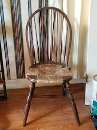 Windsor antique rush back dining chair set of 2