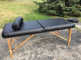 Massage table and chair