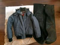 Men Moose Knuckles Bomber Winter Jacket Size M