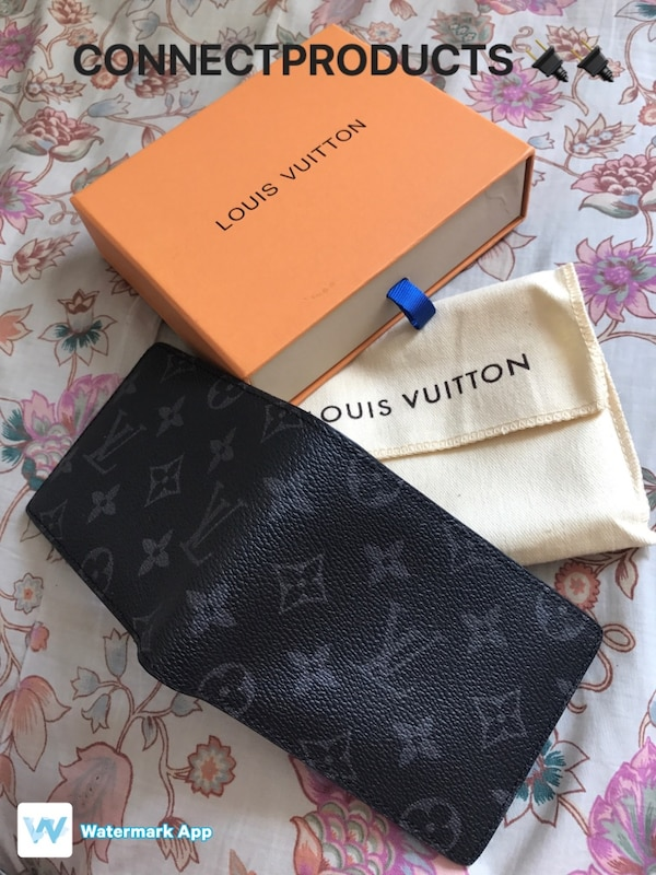 f8b9b08e61fc Used Authentic New Louis Vuitton Monogram Eclipse Multiple Wallet for sale  in New York - letgo