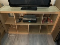 Brown wooden tv stand with flat screen television Longueuil, J4J 3M7