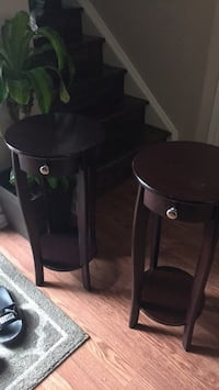 two black wooden side tables Brampton, L6V 3N3