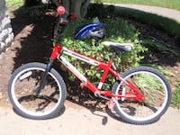 """Huffy Rock It ~ 40"""" Kids Bike and Helmet ~ Torn Seat ~ for Pet CHARITY Canton"""