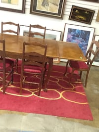 Rectangular brown wooden table with six chairs dining set Rockville, 20850