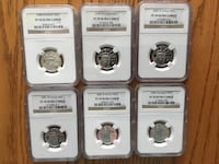 (6) PERFECT GRADE PR70 Ultra Cameo 25$ PLATINUM EAGLES- 20 X more rare than Gold - Great Investment Coins - Cannot get any better ! Each with its own REVERSE DESIGN Mokena, 60448