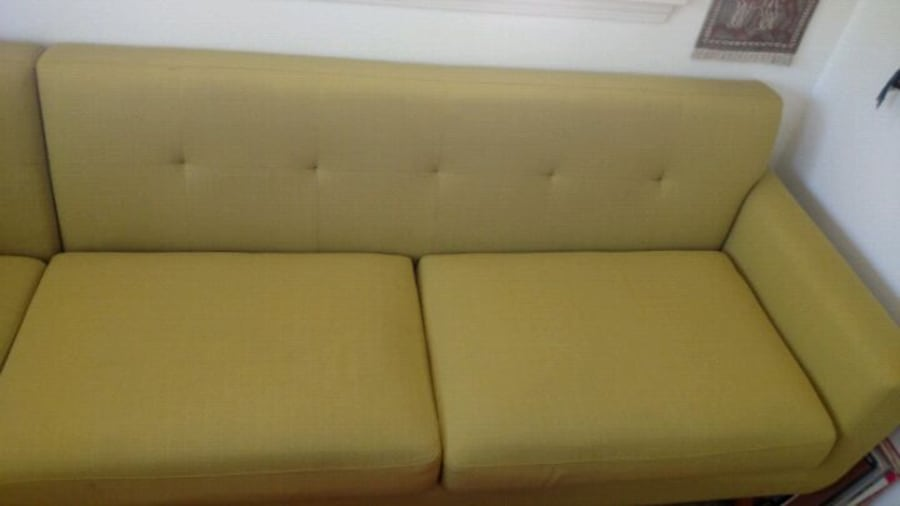 Custom 2017 made mid century style couch and ottom 83abaee4-4de9-420e-8a4b-d5c73f6934f6