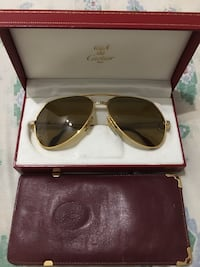 gold framed Ray-Ban aviator sunglasses with case Miami, 33194
