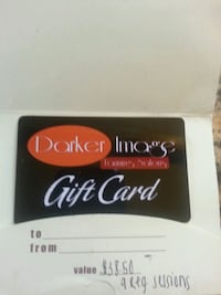 Tanning Gift Card.