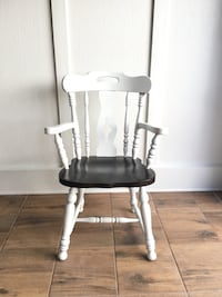 Brown and White Wood Chair with Arm Rest Pembroke Pines