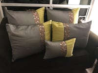Designer silk bed pillow set with inserts  Calgary, T2E