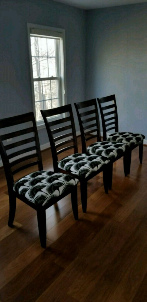 Crate and Barrel High Back Dining Chairs