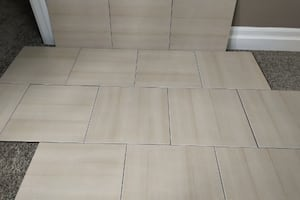 "Brand New 13"" x 13"" Beige/Brown Ceramic Tiles"