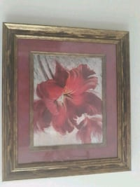 red tulips painting with square brown wooden frame Chattanooga, 37343