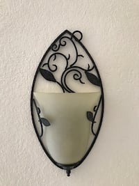 2 black ivory frosted wall light sconces Alhambra, 91803