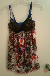 Women's multicolored floral spaghetti strap top Hamilton