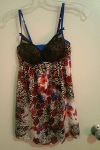 Women's multicolored floral spaghetti strap top