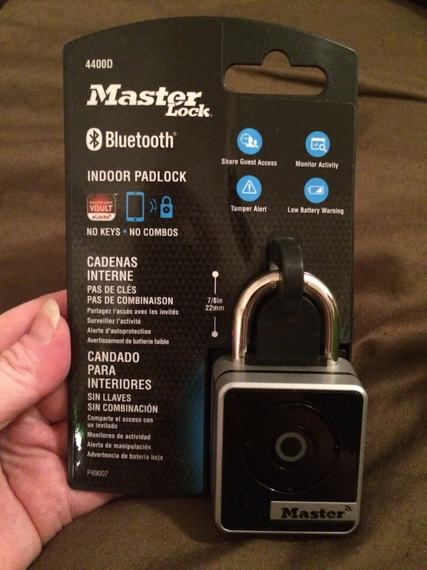 Bluetooth indoor padlock