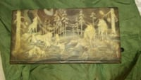 brown wooden framed painting of woman Newark, 43055
