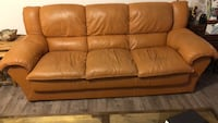 brown leather 3-seat sofa East Stroudsburg, 18302
