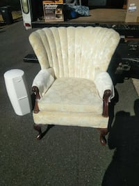 brown wooden framed white padded glider chair Capitol Heights, 20743