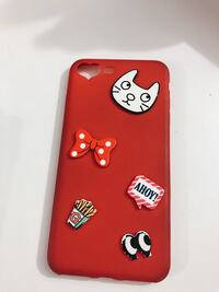 red and white embossed iPhone case