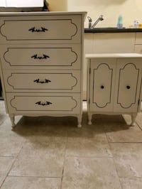 Refinished dresser and side table done in white need gone ASAP. Vaughan, L4H 2H2