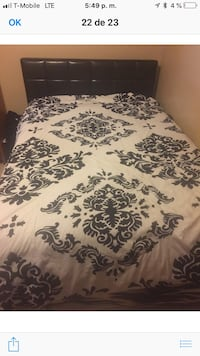 white and black floral bed sheet Jurupa Valley, 91752