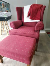 Red Chair and ottoman