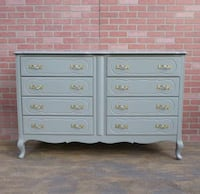 Shabby chic/French provincial dresser,Smokey gray Los Angeles, 90045