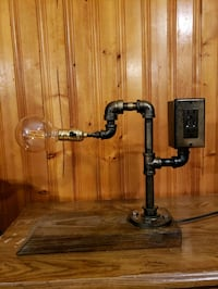 Steampunk style Edison lamp with USB receptacle Montgomery, 17752