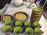 Set of 25 pieces plates cups  and bowls clean ,excellent condition  Toronto, M2R 2C4