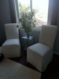 Gorgeous ivory brocade Parsons accent chairs  Whitby, L1N 8X2
