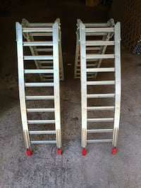 two gray metal car ramps Golden, V0A 1H2