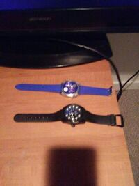 two analog watches