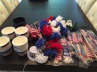 Assortment of patriotic party favors (some brand new) Woodbridge, 22193
