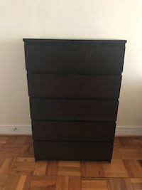 black wooden 5-drawer tallboy dresser Washington, 20010