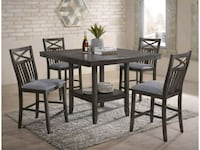 Brand New 5pc. Casual Counter Height Dining Set Austin