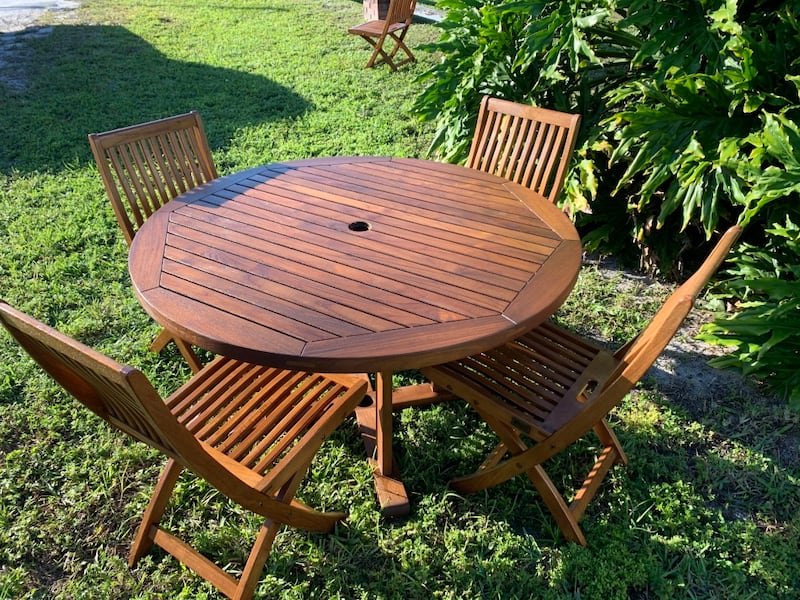 Sold Teak Patio Table Set Gloster In West Palm Beach Letgo