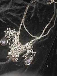silver chain necklace with heart pendant Fremont, 94538