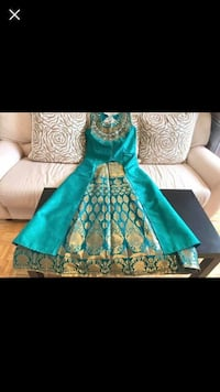 Brand New Ready Size Large Heavy Party Wear Raw Silk and Brocade Lehnga dress CLOSING SALE Burlington, L7L 1C8