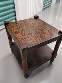 decorated wood moroccan table Herndon
