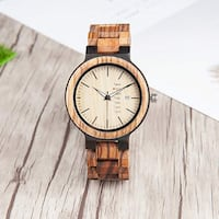 Stylish Mirumir Mens Wooden Quartz Watch with Day of the Week and Date Indicator San Jose